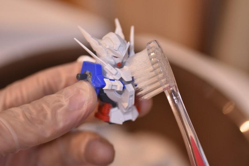 ガンプラ全塗装 歯ブラシ