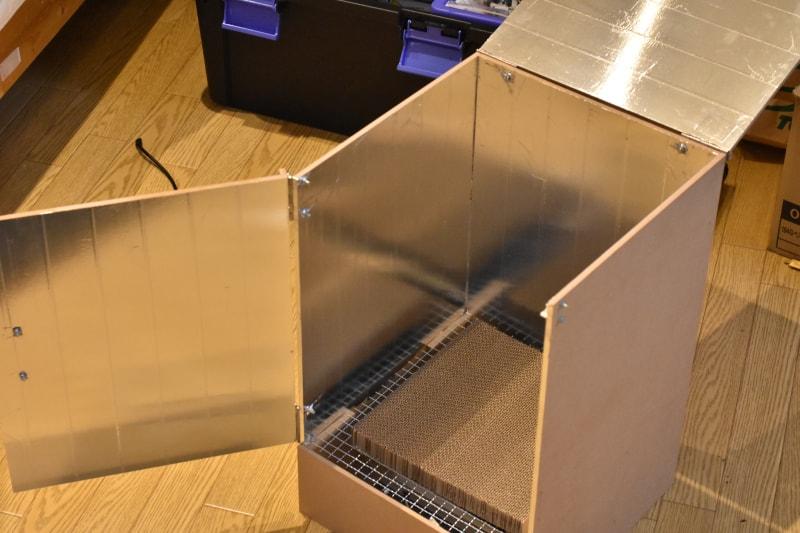 自作乾燥ブース 全面アルミテープ 貼り付け
