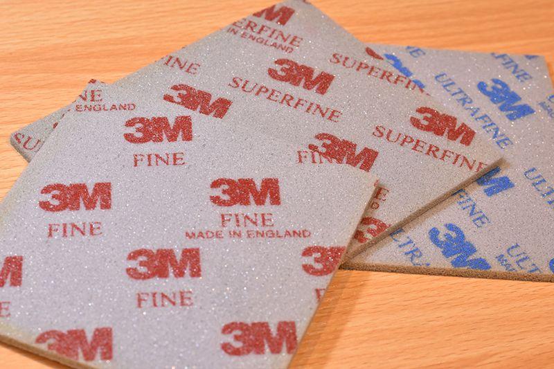 3Mスポンジヤスリ 三種類 ファイン スーパーファイン ウルトラファイン