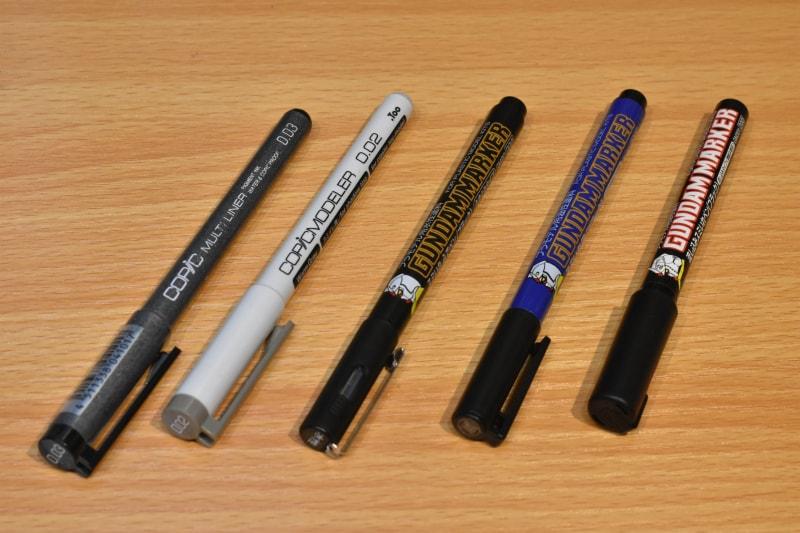 スミ入れペン 5本