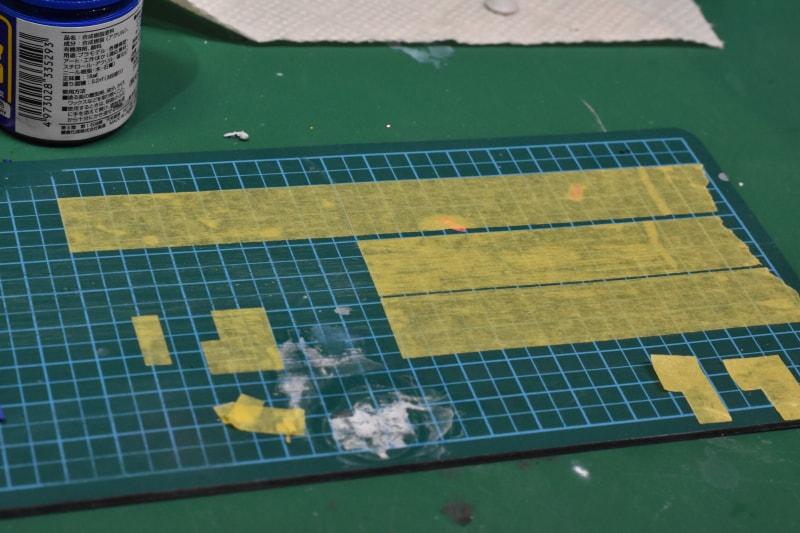 ガンプラ全塗装 塗り分けマスキングテープ
