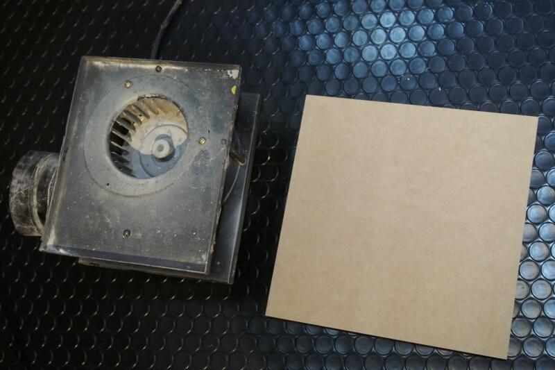 塗装ブースを集塵機に改造
