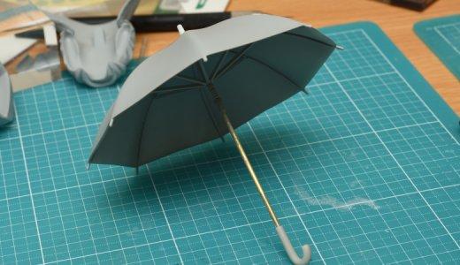 自作フィギュアの作りかた!1/12可動フィギュアにも使える『傘』をプラ板を使ってスクラッチしてみた