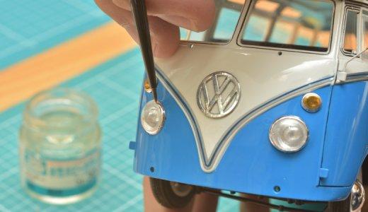 車のプラモデルの作り方とは!?ハセガワ ワーゲンバス タイプ2の最終仕上げ編